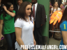 McKayla Maroney and Jordyn Wieber leave 'Good Morning America' while ignoring their adoring fans on 8/15/12.