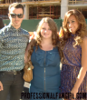 Kevin Jonas, Danielle Jonas, & I before Badgley Mischka, 9/11/12.